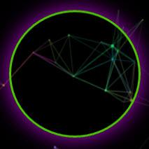 黑色酷炫彩色粒子html引导源码