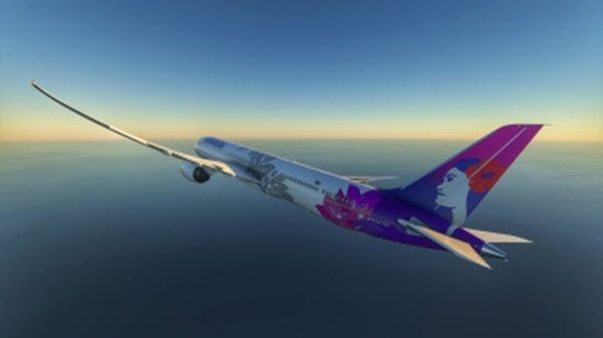 微软飞行模拟夏威夷航空配色MOD v1.0 绿色版