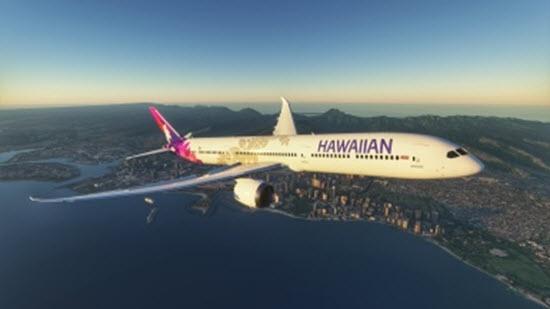 微软飞行模拟夏威夷航空配色MOD