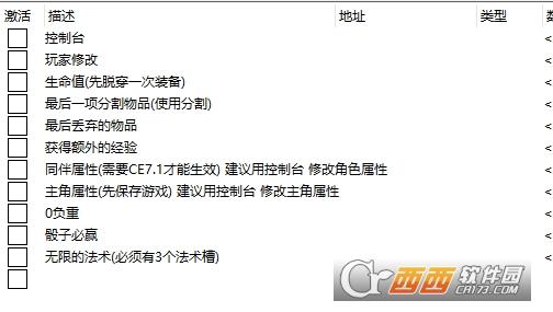 博德之门3CE多功能修改器汉化版 绿色版