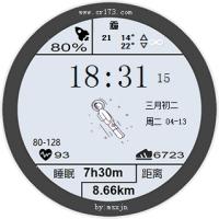 仿华为太空人表盘闹钟绿色版v1.2 免费中文版