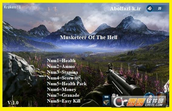 地狱火枪手无限弹药修改器 v1.0 Abolfazl版